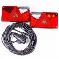 Trailerlygtesæt: baglygter Aspöck Multipoint V LED inkl. trailerkabel 7m og 13-polet stik