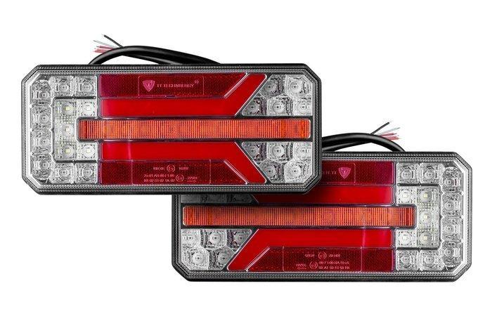 Baglygtesæt LED med dynamisk blinklys højre+venstre 12555