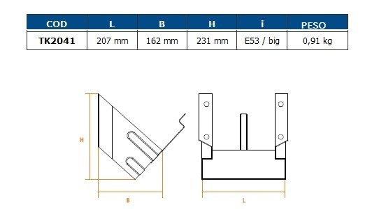 Ophæng for stopklods E53 galvaniseret